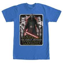 Star Wars VII: The Force Awakens Mangled Edge Mens Royal Blue T-Shirt Free shipping  Harajuku Tops Fashion Classic 5pcs movie the force awakens first order stormtrooper officer ee exclusive free shipping