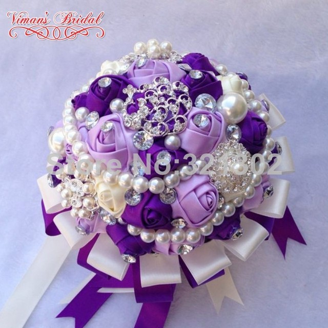 European And American Brides Holding Flowers Wedding Flowers Ornament Pearl Ribbon Wedding Bouquet De Novia Bridal BouquetsYJ17
