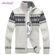 Kerst Trui Winter Nieuwe Trui Sneeuwvlok Patroon Mannen Leisure Vest Mode Kraag Mannelijk Verdikking Wollen Jas