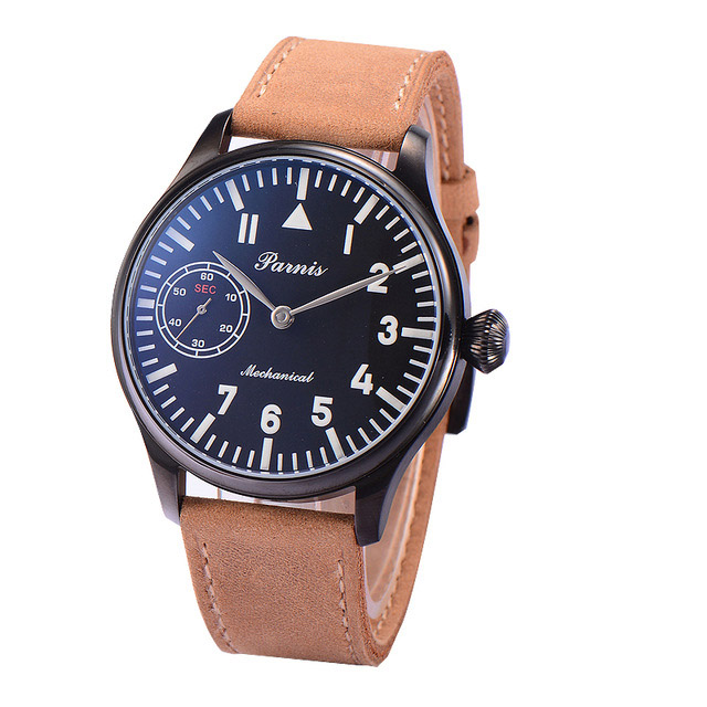 Parnis Mens Sport Water Resistant Business Seperate Second Dial Hand Wind Mechanical Wrist WatchesParnis Mens Sport Water Resistant Business Seperate Second Dial Hand Wind Mechanical Wrist Watches