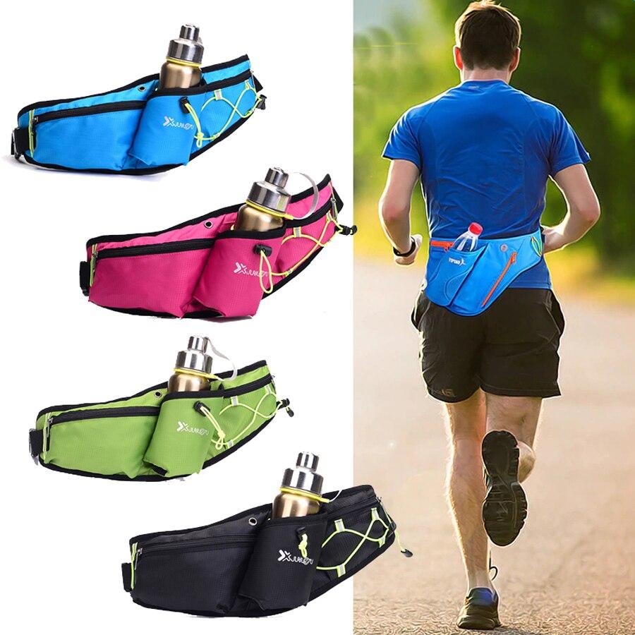 Able Newboler Running Bags Female Sport Waist Bag With Water Bottle For Walking Camping Gym Belt Bag Men Women Waterproof Fanny Pack Various Styles Relojes Y Joyas