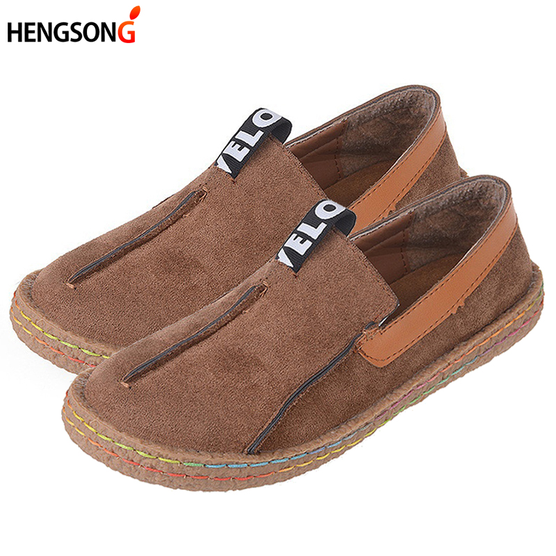 Women Loafers Casual Shoes Female Round Toe Slip-On Wide Shallow Flats Lady Shoes Oxford Spring Summer Shoes For Women OR910314 new shallow slip on women loafers flats round toe fishermen shoes female good leather lazy flat women casual shoes zapatos mujer