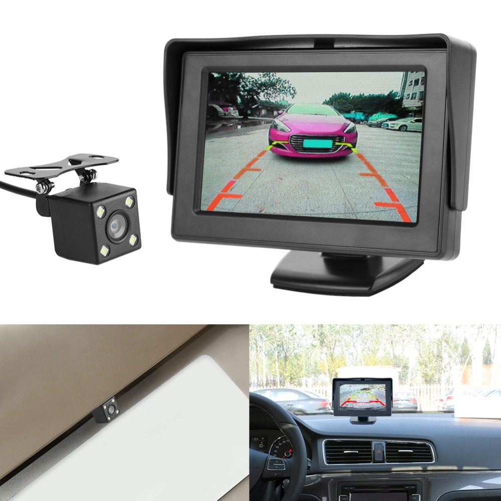 VODOOL Waterproof Car Rear View Camera with Night Vision Backup Camera and 5 inch TFT Monitor 2