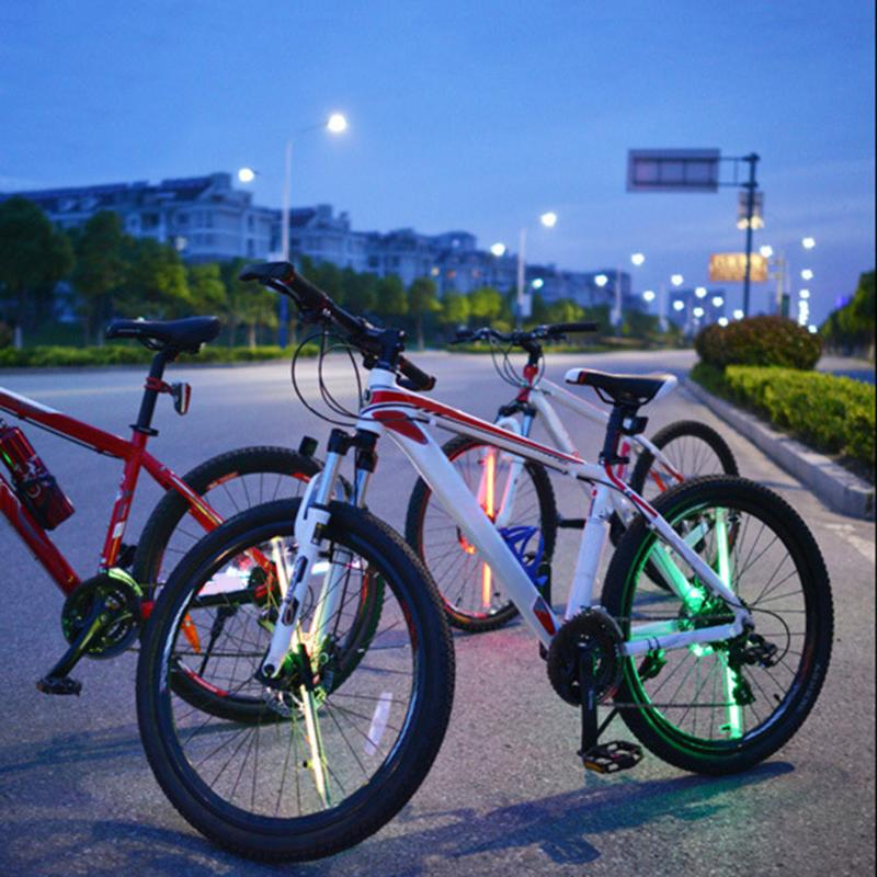 1Pcs DIY Programmable Bicycle Wheel Lights 64 LED Waterproof Spoke Night Cycling Bicycle Bike Wheel Signal Tire Spoke Light New wheel up bike head light cycling bicycle led light waterproof bell head wheel multifunction mtb lights lamp headlight m3014