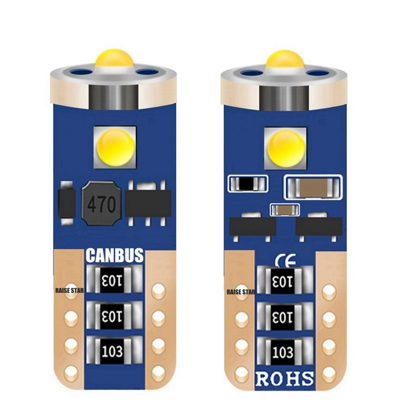 T10 W5W WY5W High Quality Cree Chip LED Car Parking Light Source Canbus No Error Auto Reading Dome Lamp Wedge Tail Side Bulb