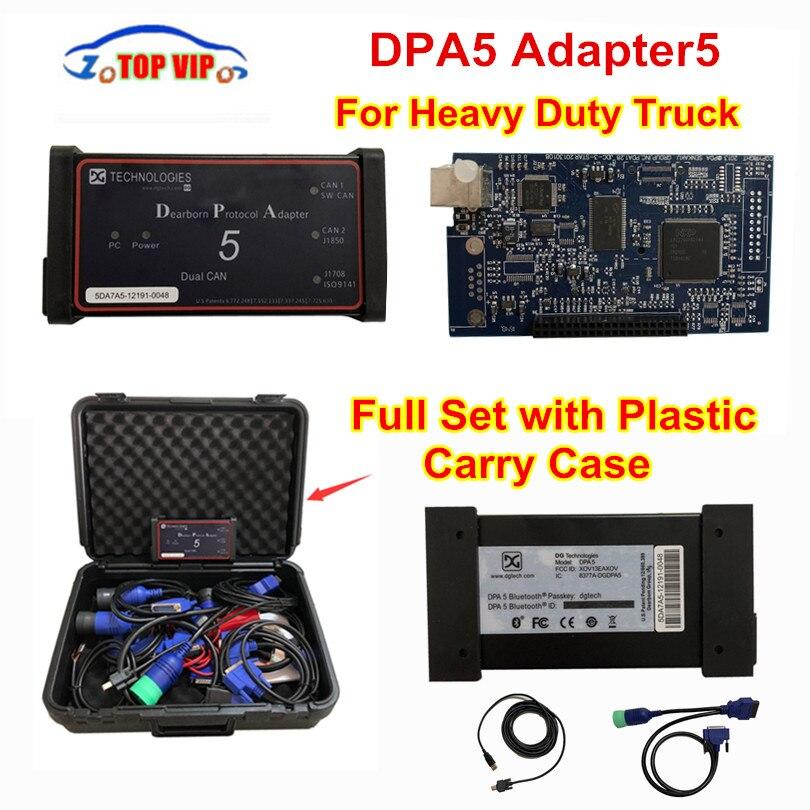 Dearborn Protocole Adapter5 Heavy Duty Truck Scanner DPA5 Sans Bluetooth outil de diagnostic DPA 5 mieux que NEXIQ DHL Rapide