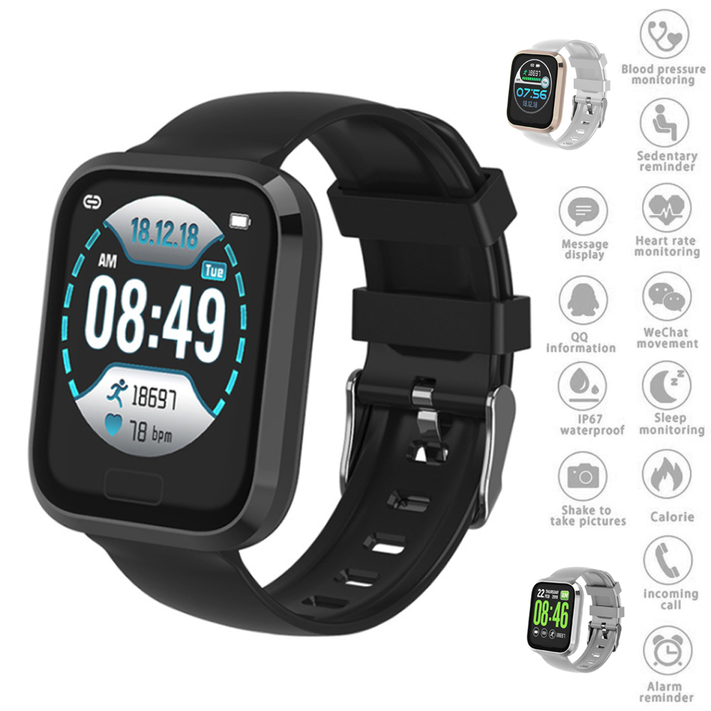 1.3 Inch P30 Smart Watch Bluetooth Step Counter Sports Health Tracker Smart Bracelet Sleep Monitoring For Android IOS System-in Smart Watches from Consumer Electronics