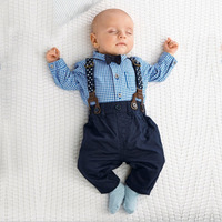 New Born Baby Boy Clothes Bow Tie Baby Girls Clothing Gentleman Infant Costume Toddler Jumpsuits Ropa