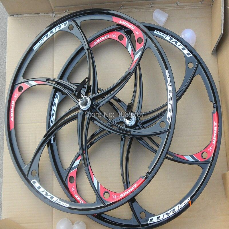 26 Bicycle Wheel Aluminum Alloy Mountain Bike Wheels 26 Inch In