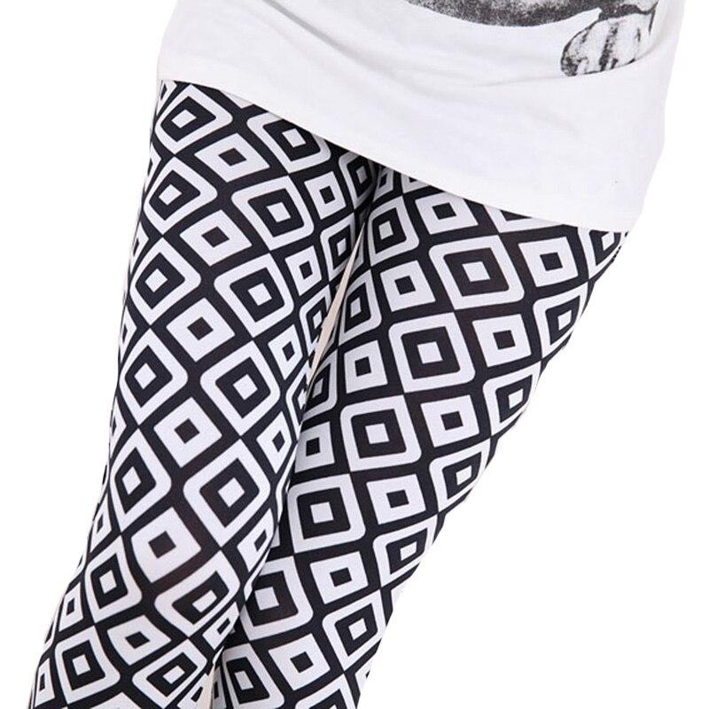 CUHAKCI Summer Women Leggings Knee Length  Lady Cropped Trousers Floral Elastic Waist Push Up Leggins Skull Print Legging