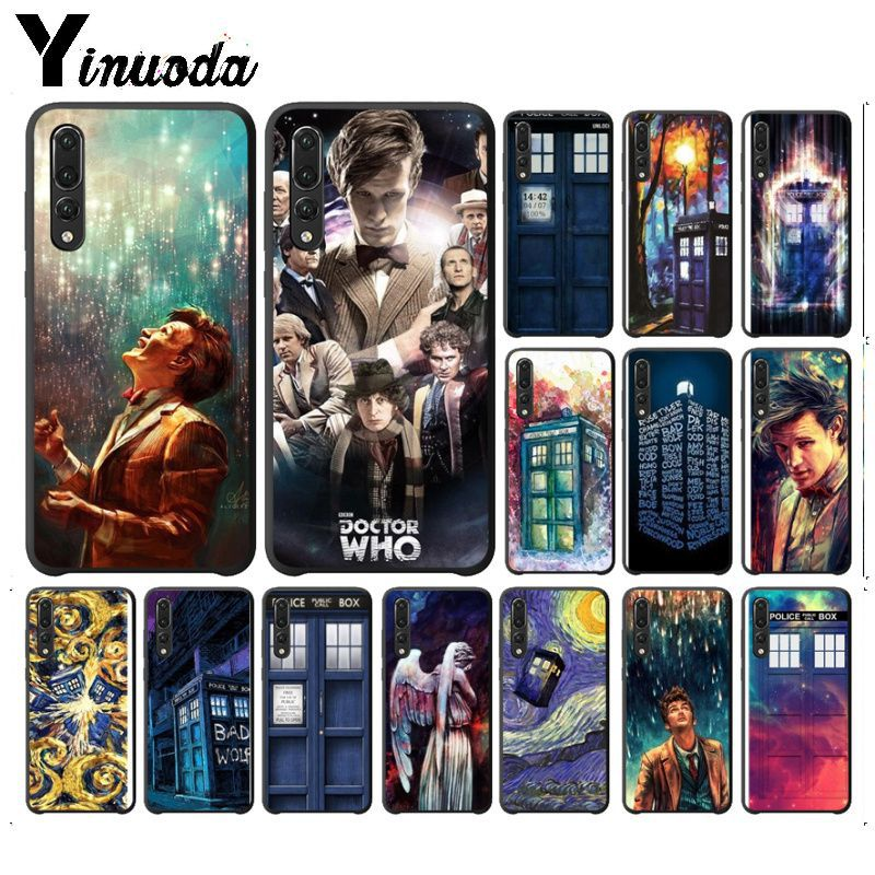 Yinuoda Tardis Box Doctor Who TPU Soft Silicone Black Phone Case For huawei nova 3i mate20 pro p20lite p20pro mate10lite cases