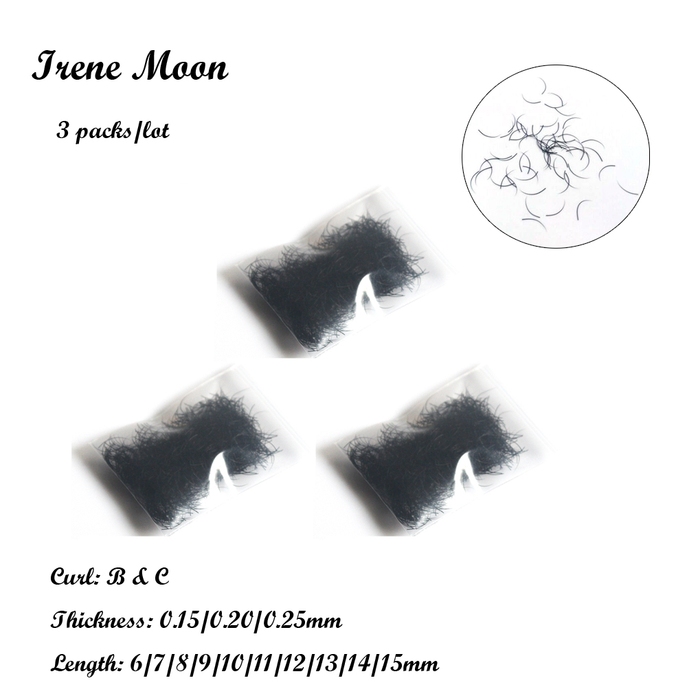 3 пачкі B & C Скручванне шоўку Індывідуальныя накладныя вейкі 0.15 / 0.20 / 0.25mm & 6-15mm Ілжывыя норка Вейкі Пашырэнне Падроблены Cils павек на макіяж