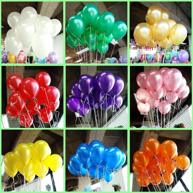 Hot 20pcs/lot 10inch 1.2g/pcs white Latex Balloon Helium Thickening Pearl Celebration Party Wedding Decoration Birthday Balloon