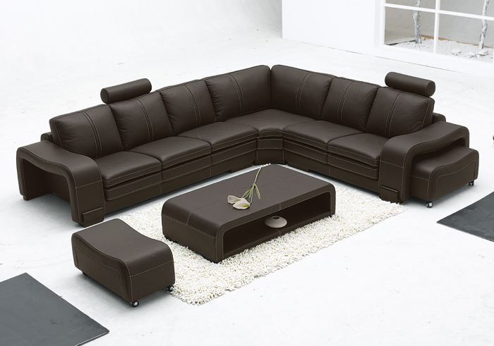 Modern minimalist L shaped corner sofa leather sofa leather sofa leisure sofa personalityin