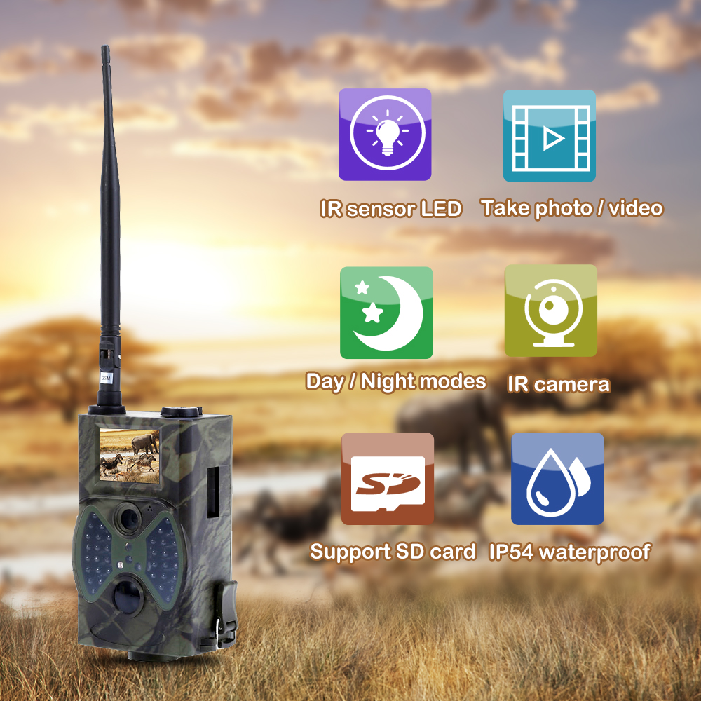 Outlife HC300M Jagd Kamera Nachtsicht Trail Kameras 12MP 940nm Infrarot-Trap Spiel Kameras MMS/GPRS/SMTP Wildlife kamera