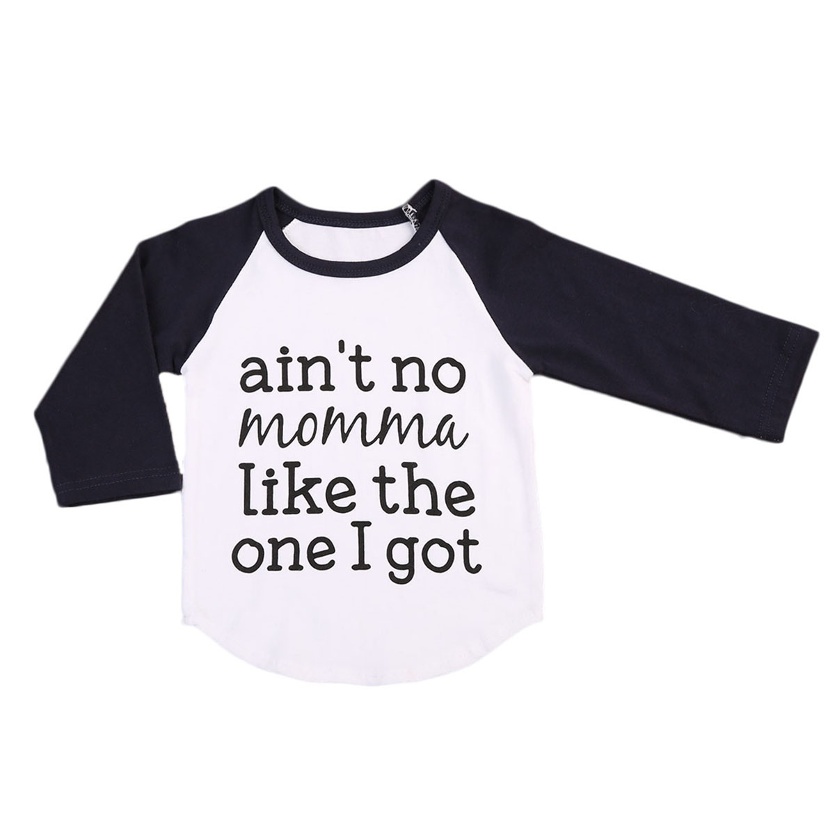 Autumn Newborn Baby Boy Long Sleeve T-shirt Lettering Cotton Tops Clothes Outfit