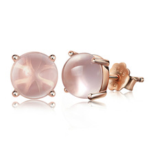 100% 925 sterling silver fashion natural pink opal stone ladies`stud earrings jewelry female women birthday gift drop shipping moonrocy drop shipping silver color waterdrop fashion crystal necklace and earrings pink opal jewelry set for women girl