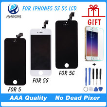 Best Quality Test AAA  No Dead Pixel For iPhone 5 LCD Screen With Touch Screen 5S Display Digitizer Replacement Parts Assembly