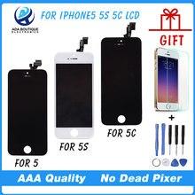 1 UNIDS Mejor Calidad AAA Sin Píxeles Muertos Para el iphone 5 5G Pantalla LCD Con Pantalla Táctil Digitalizador Asamblea reemplazo
