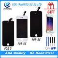 Mejor prueba de calidad aaa sin píxeles muertos para iphone 5 5S Pantalla LCD de Pantalla Con Pantalla Táctil Digitalizador de piezas de Repuesto asamblea