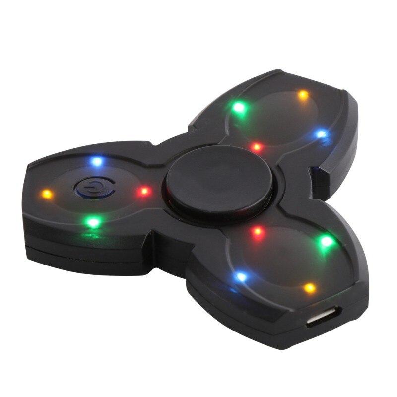 LED Bluetooth Speaker Musical Hand Fidget Spinner USB