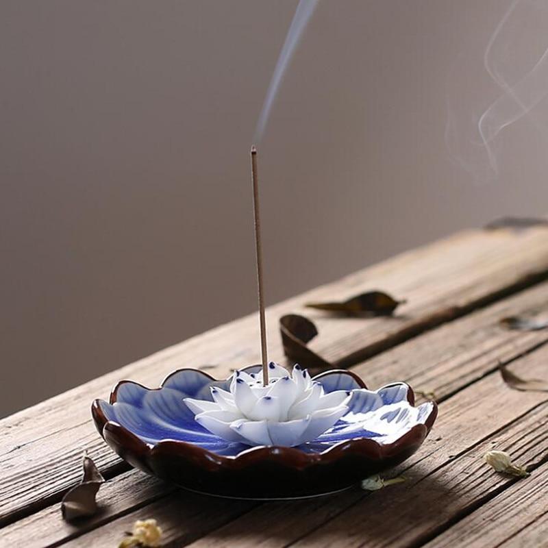 PINNY Jingdezhen Lotus Seramik Tütsü Tutucu El Yapımı Sopa - Ev Dekoru - Fotoğraf 2