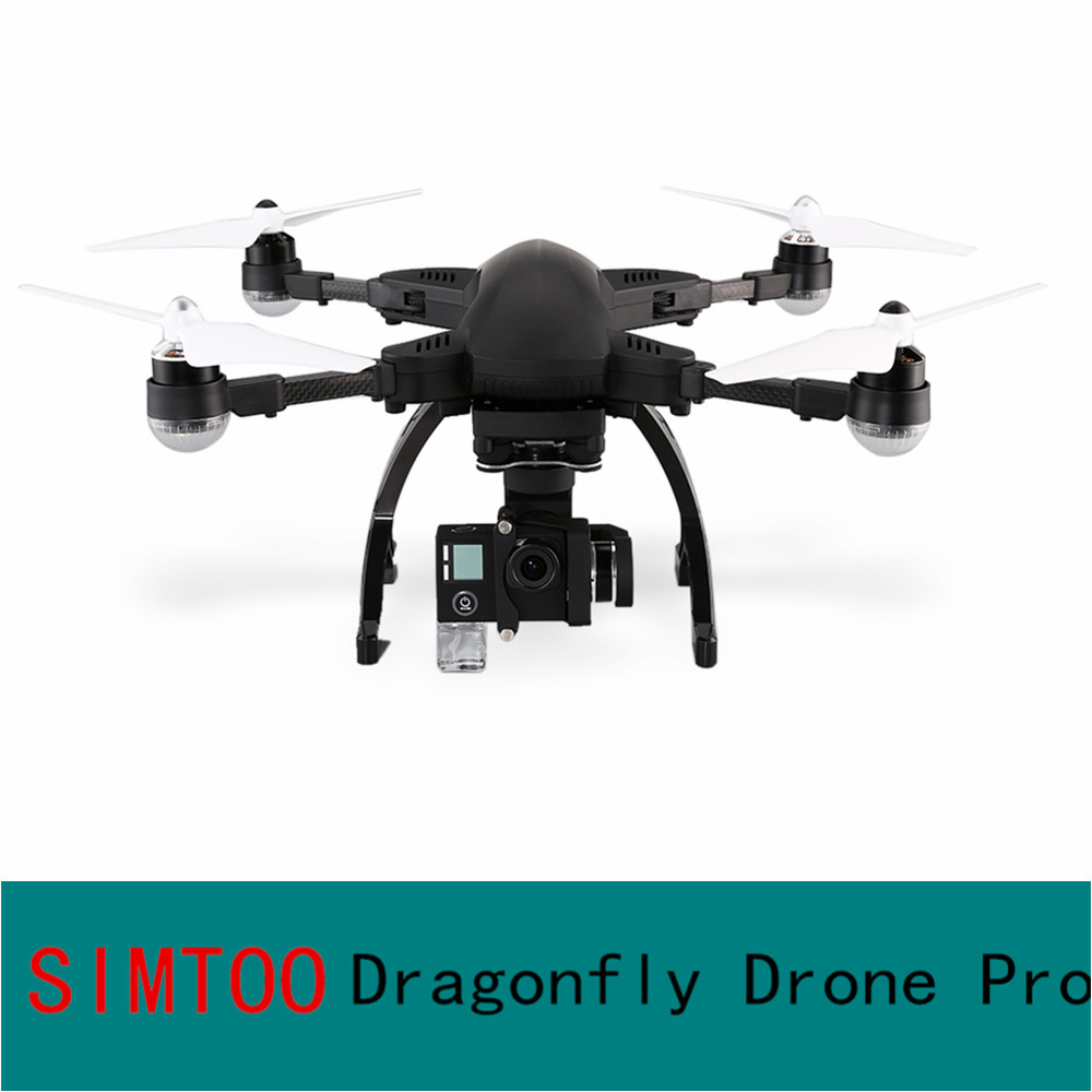 SIMTOO Dragonfly Drone Pro RTF 16MP 4K HD Camera WIFI FPV GPS Watch RTF Remote Controller 2.4GHz 8CH Voice Control RC Quadcopter qz s8 pro wifi fpv rc quadcopter rtf black