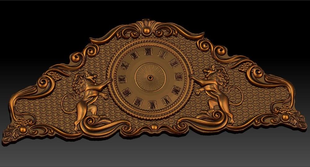Digital File In STL Format Clock For CNC 3D Relief Carving Engraving C36-22