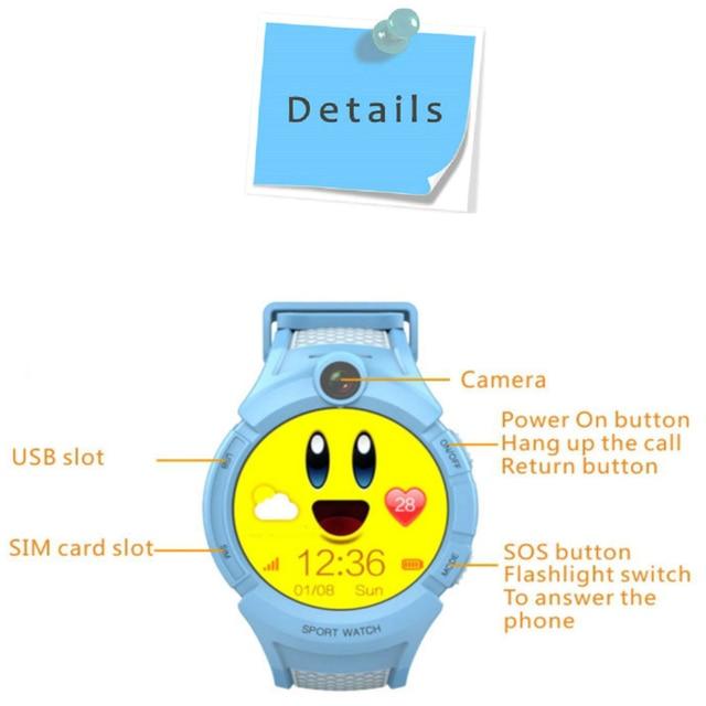 Q360 Child smartwatch SOS Anti-Lost Monitor Tracker baby GPS Watch Kids Smart Watch with Camera GPS WIFI Location PK Q528 Q90 3