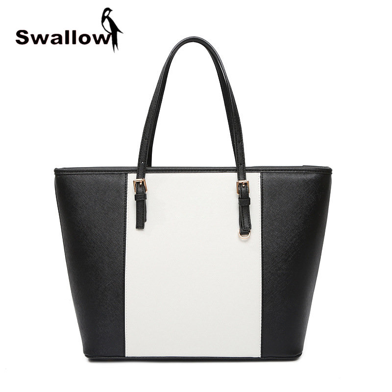 2017 High Quality Solid Tote Bags For Women European Fashion Handbags Famous Brands Luxury Leather Street Photography In Top Handle From
