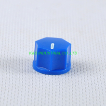 все цены на 10pcs Blue Rotary Control Plastic Potentiometer Knob Guitar Knurled Shaft Hole онлайн