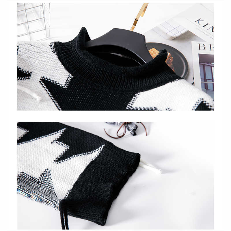 2018 Spring Autumn New Coat long-Sleeved Female Korean Version Loose Long Sleeved Sweater Wearing Tide Black White Tassel Z239