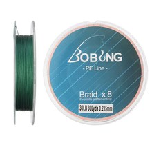 Bobing 300M Strong Multifilament Green Fishing Lines 8 Strands PE Braided Wire 15 18 20 30 40 50 60LB Carp Sea Fishing Rope Code