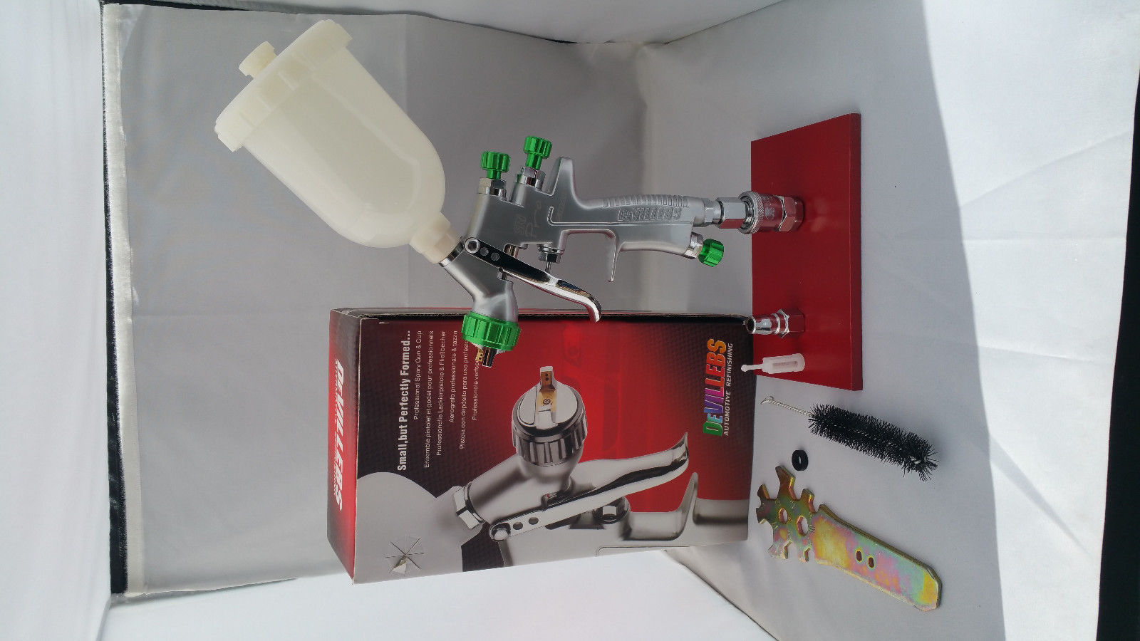 Free shipping DEVILLEBS MINI Spray Gun SRi Professional 1 2mm Gravity Feed HVLP Paint Sprayer with