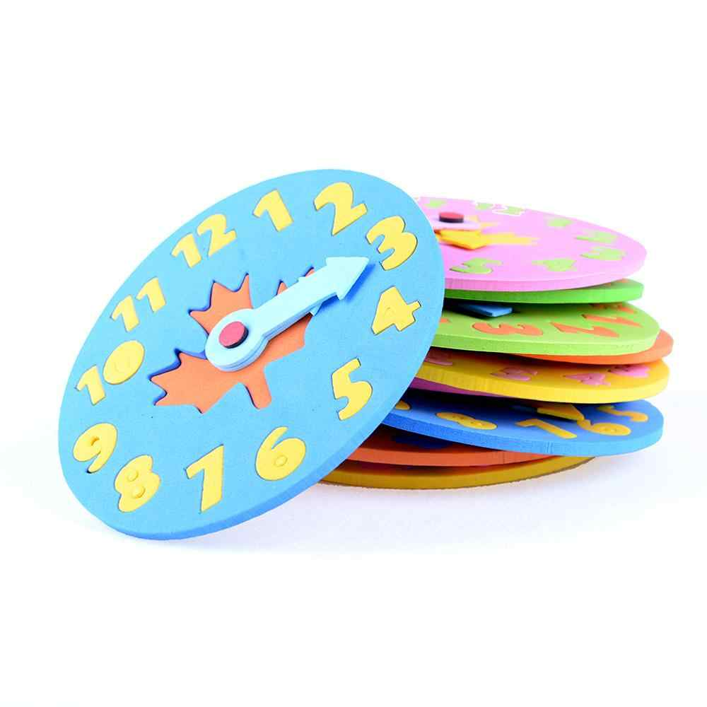 1PCS Kids DIY Eva Clock Learning Education Toys Fun Jigsaw Puzzle Game for Children Baby Toy Gifts 3-6 years old