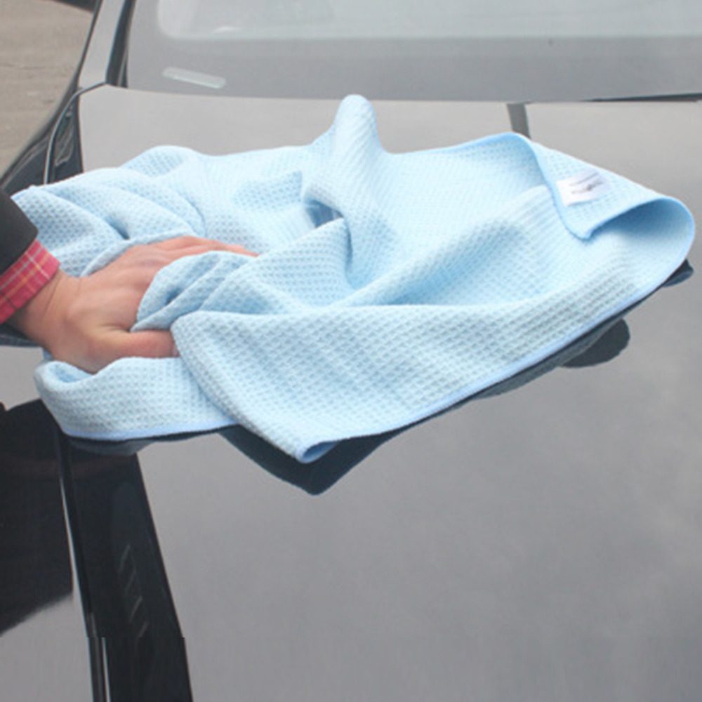 2016 New Useful High Quality Car Drying Towel Blue Waffle Weave Microfibre 60 x 80cm Hot Selling!