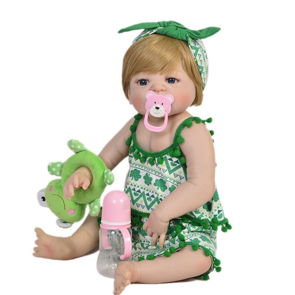 Bebe poupée Reborn 55 CM Silicone Reborn bébé poupées vinyle jouets grandes poupées pour filles 3-7 ans bébé poupées cadeau