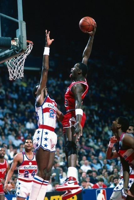 Michael Jordan Dunk Face Basketball Sport Poster Silk Fabric