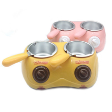 Chocolate-Melting-Pot Electric-Candy Hoodakang with Heart-Shape-Mold for Soap-Making
