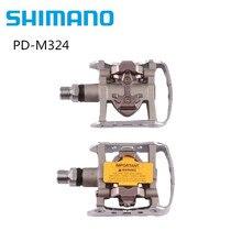 Многофункциональные педали Shimano PD M324 SPD для горного велосипеда с клипсой