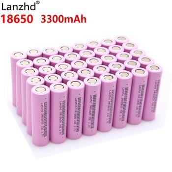 цена на 18650 40PCS Rechargeable Li-ion lithium Battery 30a 3300mAh batteries Li ion 3.7v lithium battery 18650VTC7 batteries wholesale