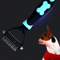 Double Side Dog Open Knot Comb Professional Knife Pet Grooming Brush Hairbrush Stainless Steel Honden Hark Dog Cutter 70Z1175