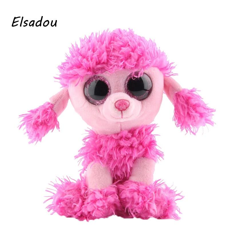 Elsadou Ty Beanie Boos Stuffed Plush Animals Pink Poodle font b Toy b font Doll