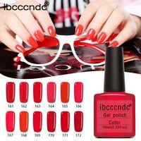 12pcs/lot UV Gel Nail Polish Red Series Semi Permanent Nail Primer Gel Varnishes Lacquer Base Top Coat Gelpolish with Gift Box