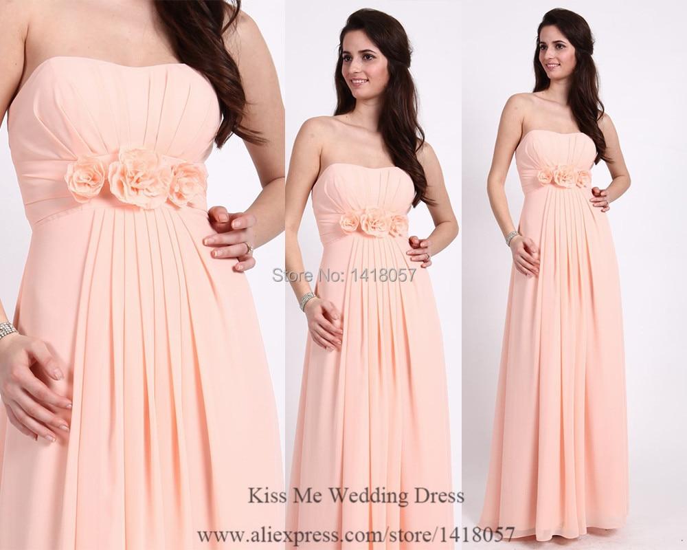 Modest boda rosa Coral fiesta Vestido De flores 2015 dama De honor ...
