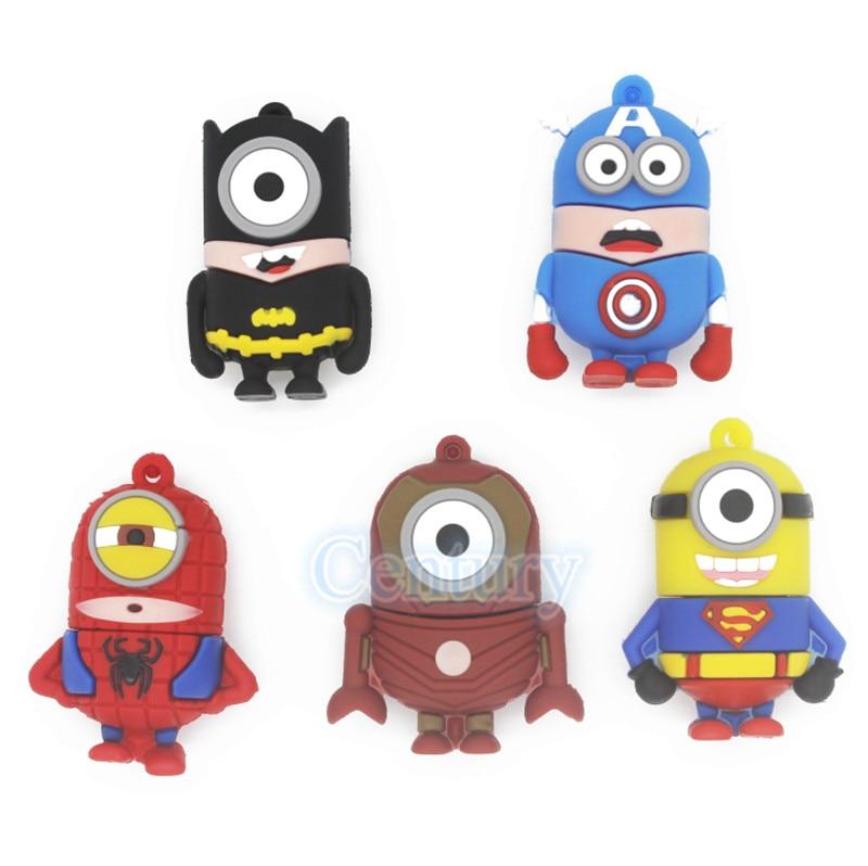 Iron man spider man super hero superman de dibujos animados usb