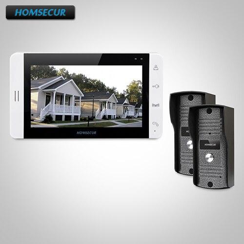 HOMSECUR 7 Hands-free Video Door Entry Security Intercom+Metal Case Camera 2C1M : TC031 Camera + TM703-W Monitor (White)
