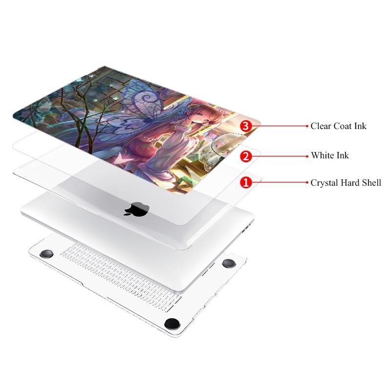 MTT Anime Girl Laptop Case Voor Macbook Air 13 inch A1932 2018 voor - Notebook accessoires - Foto 2
