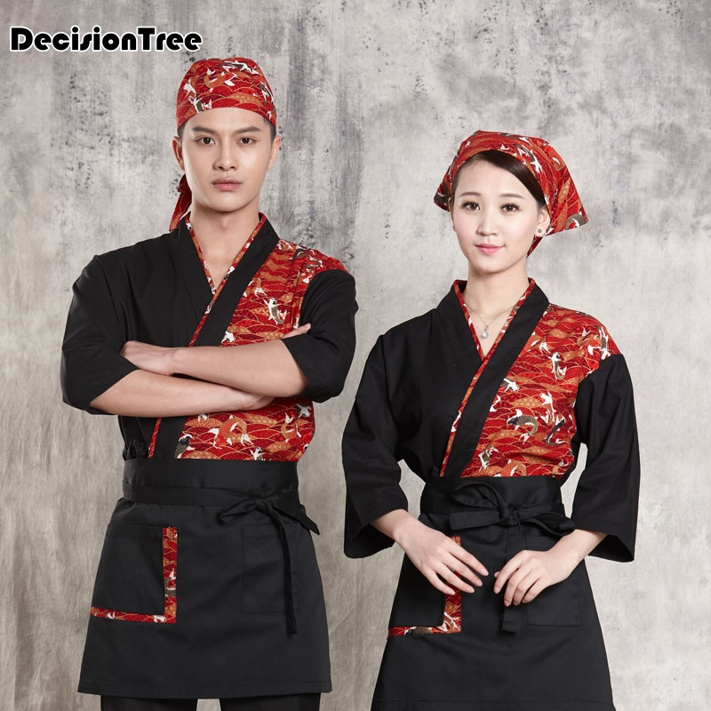 2019 summer sushi chef uniform women japanese restaurant uniforms hotel restaurant waitress uniforms receptionist uniforms