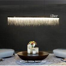 Постмодерн, дизайнерские подвесные светильники, нордическая кисточка, для ресторана, роскошный отель, инженерная цепь, для гостиной, искусство, подвесные светильники